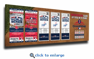 2018 World Series Champions Tickets to History Canvas Print - Boston Red Sox