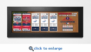 2018 World Series Champions Tickets to History Framed Print - Boston Red Sox