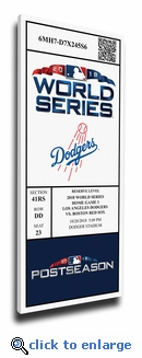 2018 World Series Los Angeles Dodgers Game 5 Canvas Mega Ticket