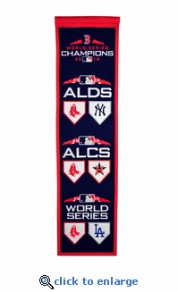 2018 World Series Road-to-the Championship 8x32 Banner - Boston Red Sox