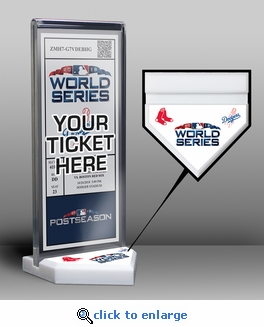 2018 World Series Ticket Display Stand - Dodgers vs Red Sox