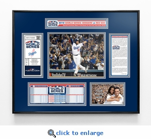 2018 World Series Ticket Frame - Los Angeles Dodgers