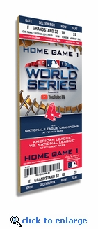 2018 World Series Wooden Ticket - Boston Red Sox