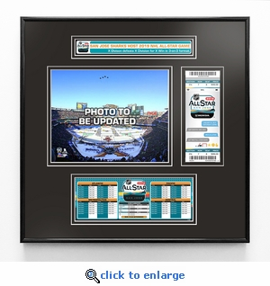 2019 NHL All-Star Game Ticket Frame Jr - San Jose Sharks