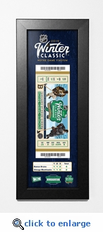 2019 NHL Winter Classic Framed Ticket Print- Bruins vs Blackhawks