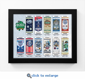 2019 NHL Winter Classic Tickets to History Framed Print - Bruins vs Blackhawks