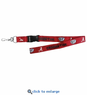 Alabama Crimson Tide NCAA Lanyard Key Chain and Ticket Holder - Red