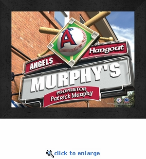 Anaheim Angels Personalized Sports Room / Pub Sign Print