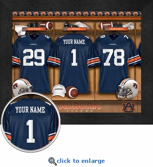 Auburn Tigers Personalized Football Locker Room Print