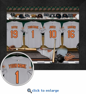 Baltimore Orioles Personalized Locker Room Print