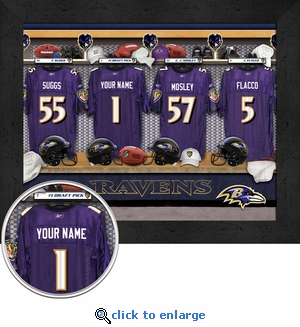Baltimore Ravens Personalized Locker Room Print