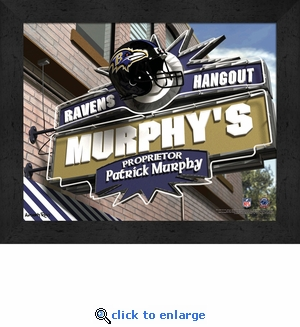 Baltimore Ravens Personalized Sports Room / Pub Sign Print