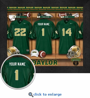 Baylor Bears Personalized Football Locker Room Print