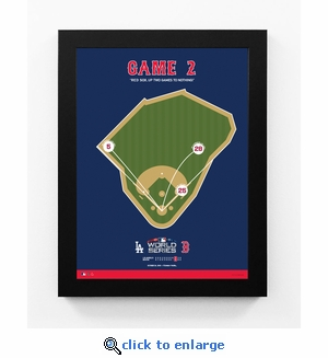 Boston Red Sox 2018 World Series Game 2 Spray Chart Framed Print