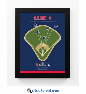 Boston Red Sox 2018 World Series Game 4 Spray Chart Framed Print
