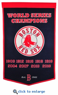 Boston Red Sox 9-Time World Series Champions Dynasty Banner 24x36