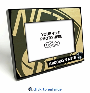 Brooklyn Nets Black Wood Edge 4x6 inch Picture Frame