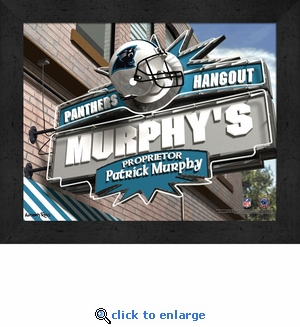 Carolina Panthers Personalized Sports Room / Pub Sign Print
