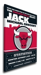 Chicago Bulls Personalized Canvas Birth Announcement - Baby Gift