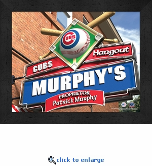Chicago Cubs Personalized Sports Room / Pub Sign Print