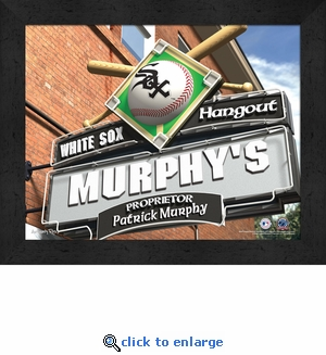 Chicago White Sox Personalized Sports Room / Pub Sign Print