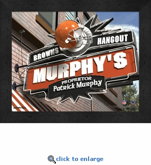 Cleveland Browns Personalized Sports Room / Pub Sign Print