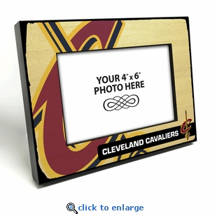 Cleveland Cavaliers Black Wood Edge 4x6 inch Picture Frame