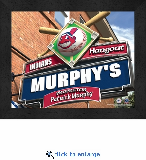 Cleveland Indians Personalized Sports Room / Pub Sign Print