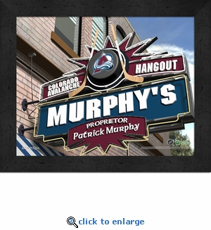 Colorado Avalanche Personalized Sports Room / Pub Sign Print