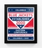 Columbus Blue Jackets Dual Tone Team Sign Print Framed