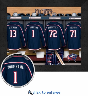 Columbus Blue Jackets Personalized Locker Room Print