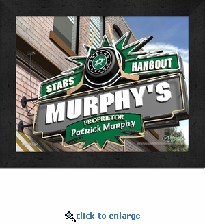Dallas Stars Personalized Sports Room / Pub Sign Print