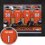 Denver Broncos Personalized Locker Room Print