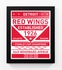 Detroit Red Wings Dual Tone Team Sign Print Framed