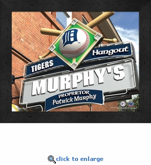 Detroit Tigers Personalized Sports Room / Pub Sign Print