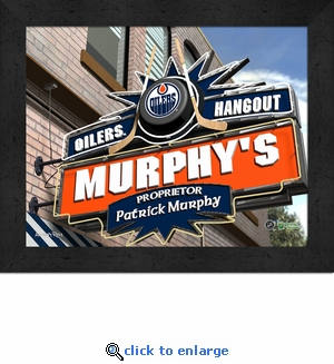 Edmonton Oilers Personalized Sports Room / Pub Sign Print