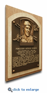 Fergie Jenkins Baseball Hall of Fame Plaque on Canvas - Chicago Cubs