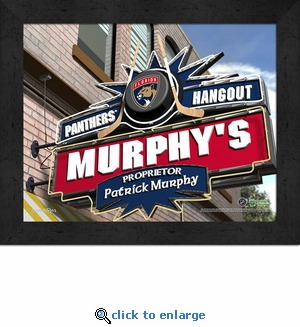 Florida Panthers Personalized Sports Room / Pub Sign Print