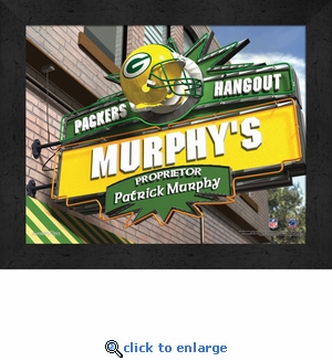 Green Bay Packers Personalized Sports Room / Pub Sign Print