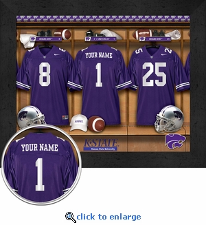 Kansas State Wildcats Personalized Football Locker Room Print