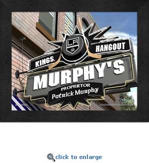Los Angeles Kings Personalized Sports Room / Pub Sign Print