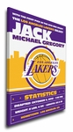 Los Angeles Lakers Personalized Canvas Birth Announcement - Baby Gift