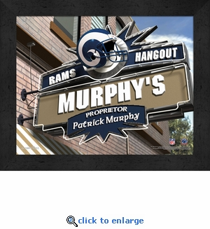 Los Angeles Rams Personalized Sports Room / Pub Sign Print