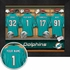 Miami Dolphins Personalized Locker Room Print
