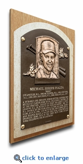 Mike Piazza Baseball Hall of Fame Plaque on Canvas (small) - New York Mets