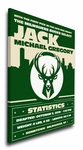 Milwaukee Bucks Personalized Canvas Birth Announcement - Baby Gift