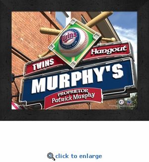 Minnesota Twins Personalized Sports Room / Pub Sign Print