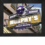 Minnesota Vikings Personalized Sports Room / Pub Sign Print