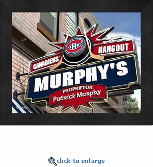 Montreal Canadiens Personalized Sports Room / Pub Sign Print