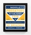 Nashville Predators Dual Tone Team Sign Print Framed